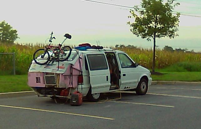 rv net open roads forum anybody ever convert a minivan to an rv